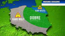 Dobre warunki drogowe prawie w całej Polsce