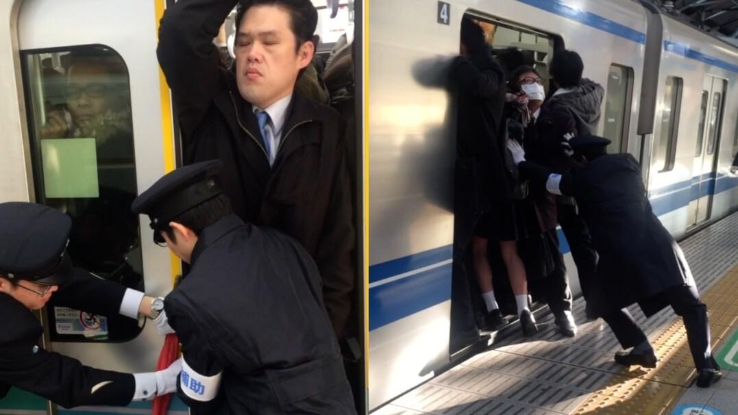 Metro jak puszka sardynek. Upychacze zmieszczą wszystkich
