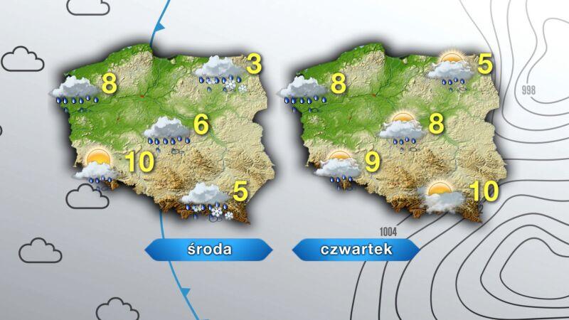 Prognoza pogody na środę i czwartek