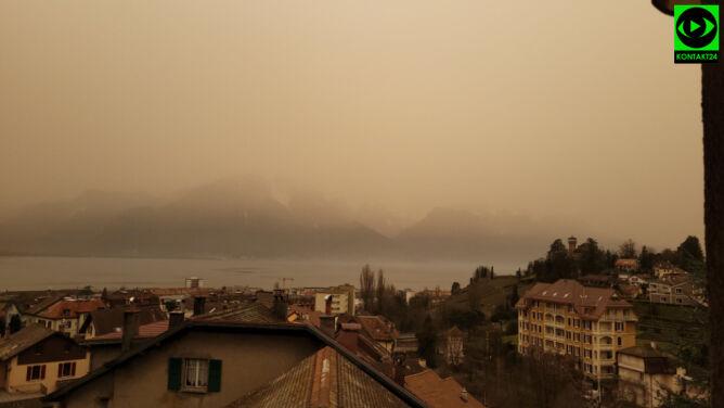 Pył znad Sahary w Szwajcarii (Kontakt 24/Malwina)