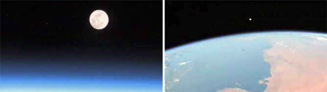 Astronauci też oglądali Super Księżyc