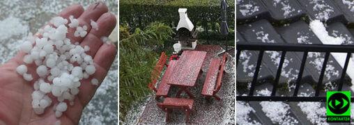 """""""Zrobiło się biało"""". Krupa śnieżna na północy Polski"""