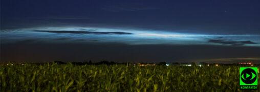 """""""Magiczne chmury świecące w ciemnościach"""". Obłoki srebrzyste nad Warszawą"""