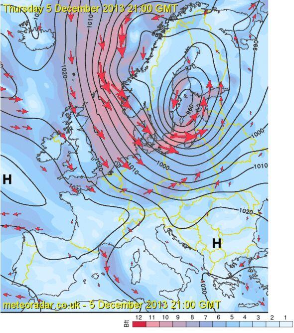Tak orkan będzie wyglądał w czwartek o godz. 21.00 czasu uniwersalnego (godz. 22.00 naszego czasu) (sat24)